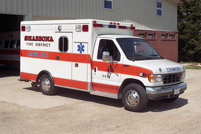 SHABBONA  AMBULANCE 1-I-19   1994 FORD E-350 - MEDTEC