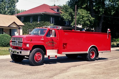 WATERMAN COMMUNITY FPD  TANKER 5  1987  FORD F800 - ALEXIS   0-1750