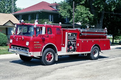 WATERMAN COMMUNITY FPD  ENNGINE 2  1976  FORD C - ALEXIS   1000-750