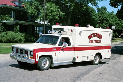 WATERMAN COMMUNITY FPD  RESCUE 1  1974  GMC - SPRINGFIELD   X- PAW PAW FPD