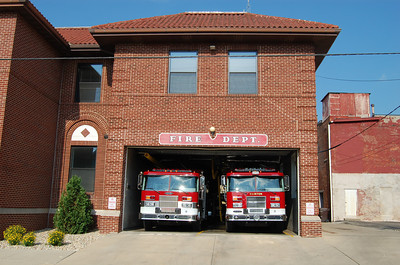 CLINTON FIRE STATION  BILL FRICKER PHOTO