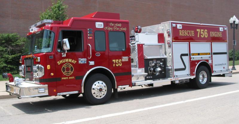 Shumway FPD Rosenbauer rescue pumper
