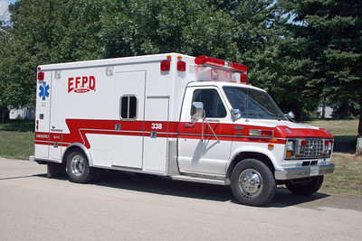 ELLIOTT  AMBULANCE 338  1989 FORD E-350 - ROAD RESCUE  #1336