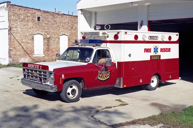 ROBERTS - MELVIN  RESCUE 1  1976 CHEVY - STARLINE  X-LODA EMS