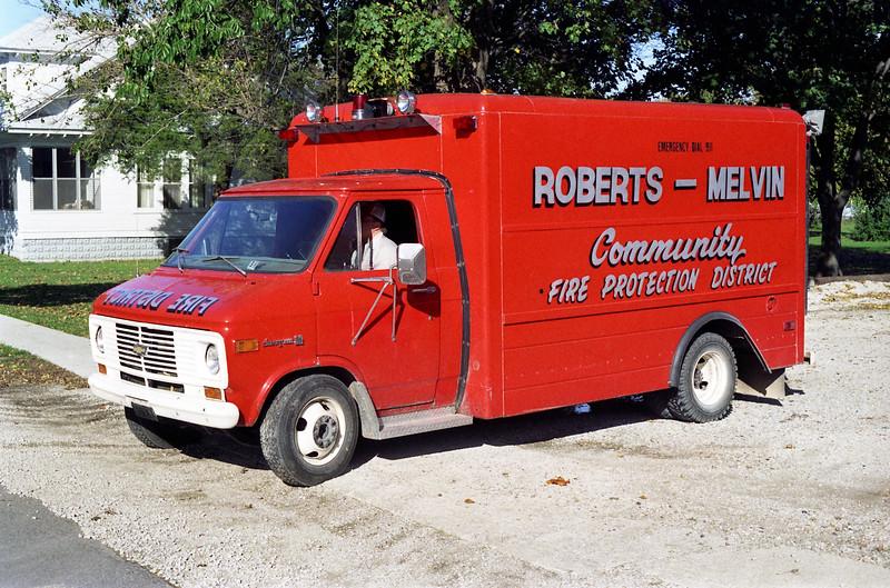 ROBERTS - MELVIN  RESCUE 4  1975 CHEVY VAN 30