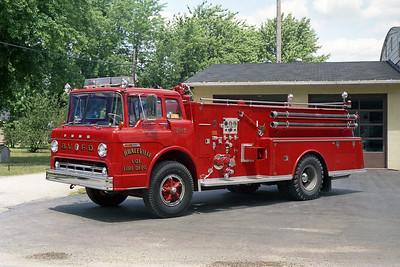 BRACEVILLE FPD  TANKER 207  1971  FORD C800 -ALEXIS   500-1250