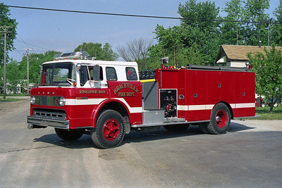 BRACEVILLE FPD  ENGINE 203  1973  FORD C8000 - DARLEY   1000-1200   X-FLOSSMOOR FD