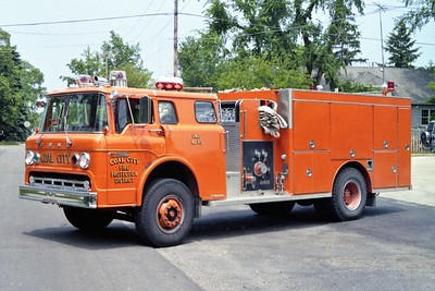 cOAL CITY FPD  ENGINE 45  1980  FORD C8000 - DARLEY   750-1250   #518
