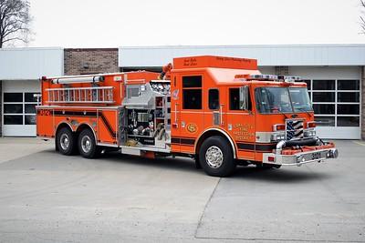 COAL CITY FPD  ENGINE 3121  2006 PIERCE DASH  2000-2500-20A-40B   #17524   OFFICERS SIDE