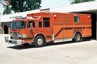 COAL CITY FPD  SQUAD 3116  1998  PIERCE SABER   EB-526