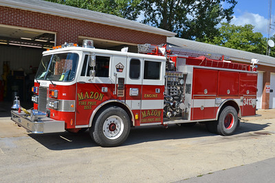 MAZON  ENGINE 3413   '90PIERCE LANCE  1500-1000    ( E- 5794)    Ex MORRIS, IL  BILL FRICKER PHOTO