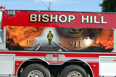 BISHOP HILL FPD ENGINE 5  LOGO  BILL FRICKER PHOTO