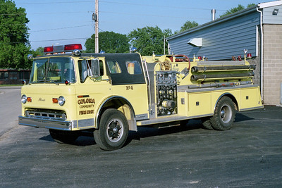 COLONA COMMUNITY FPD  ENGINE 4  1978  FORD C - ALEXIS   1000-750