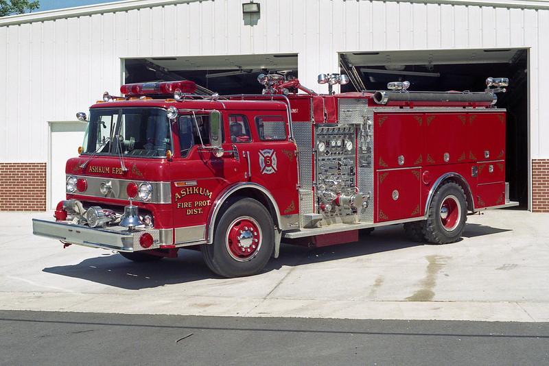 ASHKUM  ENGINE 5  1986 FORD C8000 - PIERCE  1250-1250  E-3015