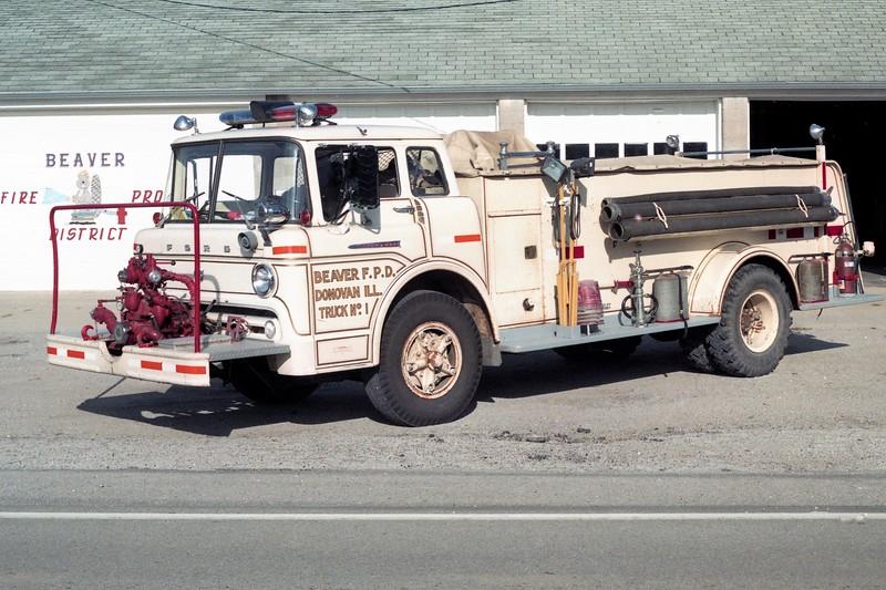 BEAVER FPD  TANKER 1  1962  FORD C-800  - DARLEY   750-1000