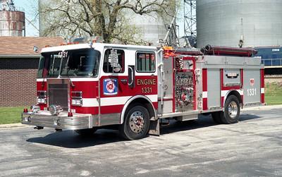 BEAVERVILLE  ENGINE 1331  1989 SPARTAN - DARLEY   1500-500    X- ROBERTS PARK FPD   # 1138-B