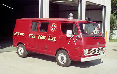 MILFORD  RESCUE 3   CHEVY VAN