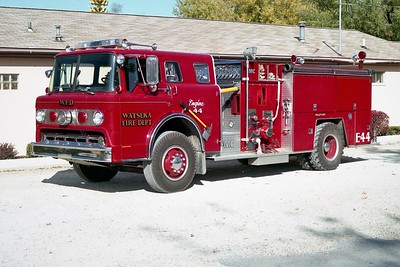 WATSEKA FD  ENGINE 44  1986  FORD C - FMC   1000-750