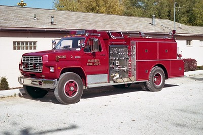 WATSEKA FD  ENGINE 2  1981  FORD F800 - FMC   1000-750