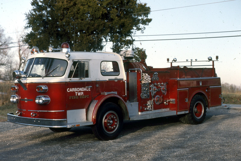CARBONDALE TOWNSHIP  ENGINE  1968 ALFCO 900  1250-750  X-ELGIN FD   RON HEAL COLLECTION