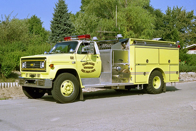 KANKAKEE TOWNSHIP  ENGINE 82  1986 CHEVY C70 - E-ONE  1000-500   #4740