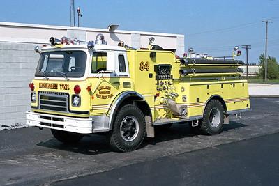 KANKAKEE TOWNSHIP ENGINE 84  1975 IHC CARGOSTAR 1910 - ALEXIS  1000-500   #1065