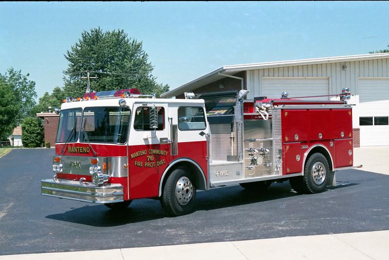 MANTENO  ENGINE 76   1984 SPARTAN - FMC   1250-750