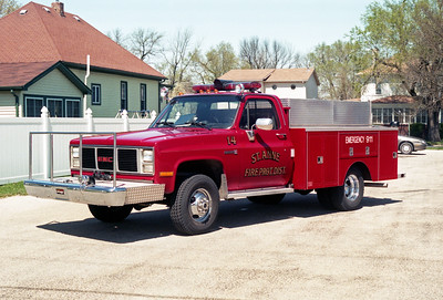 ST ANNE  BRUSH 14  1988 GMC - METZ-DARLEY   PUMP REMOVED   #SA88