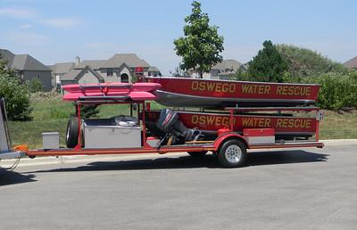Oswego FPD Water Rescue boat transporter