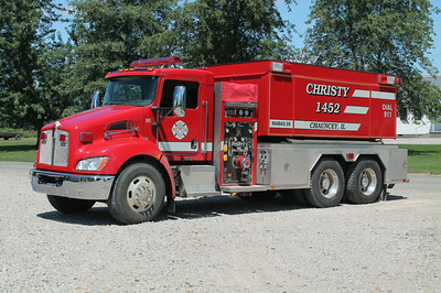 CHRISTY FPD  CHAUNCEY STATION TANKER 1452  2010 KENWORTH T-370 - FOUTS BROTHERS  1250 - 3000       FRANK WEGLOSKI PHOTO