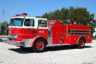 CHATSWORTH FPD  ENGINE 1512  1970 IHC-HOWE  750-750  B FRICKER PHOTO