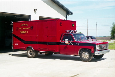 CHATSWORTH SQUAD 1518  1975 CHEVY - UTILIMASTER   X- NORMAL FD