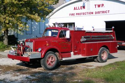 ALLEN TOWNSHIP  ENGINE 1   1967 IHC 190 - DARLEY  750-750
