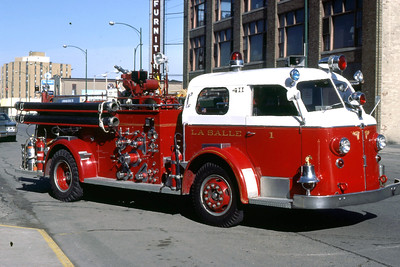 LASALLE ENGINE 1  1952 ALFCO 700 1000-0   WHITE ROOF   RON HEAL PHOTO