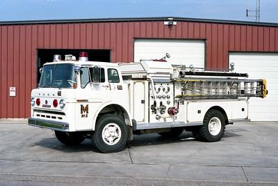 MENDOTA FD  ENGINE 611  1967  FORD C - BEAN   750-750    WHITE