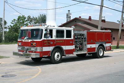 NAPLATE ENGINE 2   1987 PIERCE ARROW  1500-1000  X- BEACH GROVE FD IN  E-3720