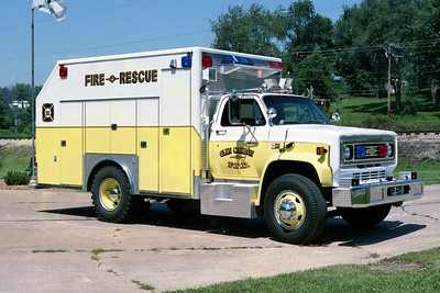 GLEN CARBON FPD  RESCUE 1987  1987  CHEVY C-70 - FRONTLINE   OFFICERS SIDE