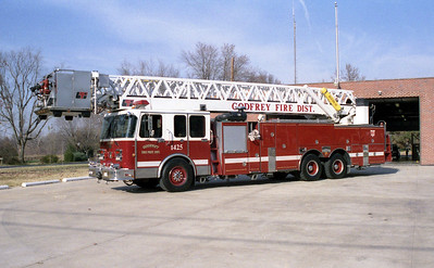 GODFREY FPD  TOWER 1425   1990 SPARTAN - LTI   1500-200-100'   #8808921     JOHN FIJAL PHOTO