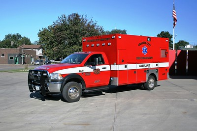 GRANITE CITY  AMBULANCE 4447  DODGE RAM
