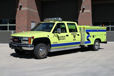 MADISON FD  RESCUE 4550  1993 GMC 3500 - READING    JOHN FIJAL PHOTO