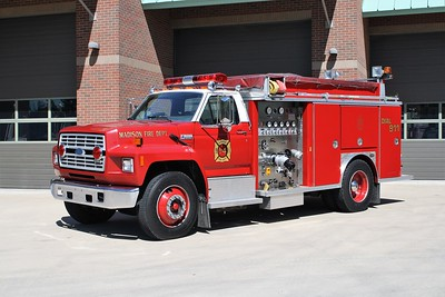 MADISON FD  ENGINE 4514 1991 FORD F800 - E-ONE  750-750   #8947      JOHN FIJAL PHOTO