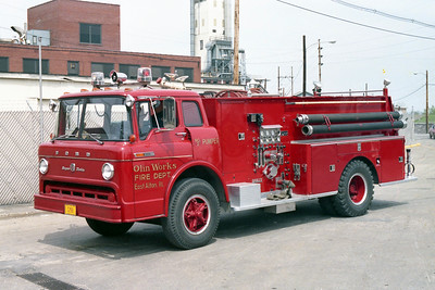 OLIN WORKS  PUMPER 2  FORD C - DARLEY