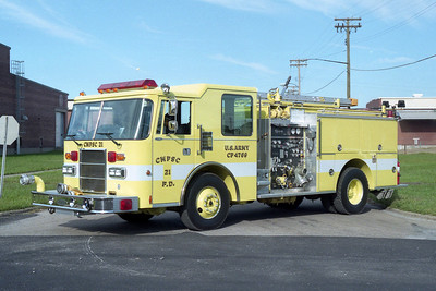 ARMY SUPPORT ENGINE 21  PIERCE DASH