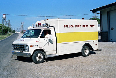TOLUCA FPD  RESCUE 6  1979  CHEVY VAN - FD BUILT