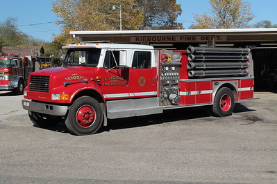KILBOURNE FPD  ENGINE 103  1990  IHC 4900 - E-ONE   1250-1000   X-    #8306   FRANK WEGLOSKI PHOTO