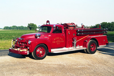 ATHENS  ENGINE 3  1954 CHEVY 6400 - TOWERS  500-500
