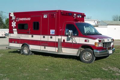 SHERRARD  AMBULANCE 1-P-13  1993 FORD E-450 - MEDTEC
