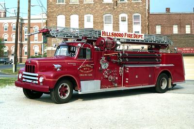 HILLBORO  TRUCK  1958 IHC R190 - CENTRAL - MEMCO  500-500-65'   X-STRATFORD FD,NJ