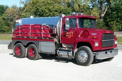 WITT TANKER 302  1991-2002 FORD L8000 - MID STATE TANK  0-2500