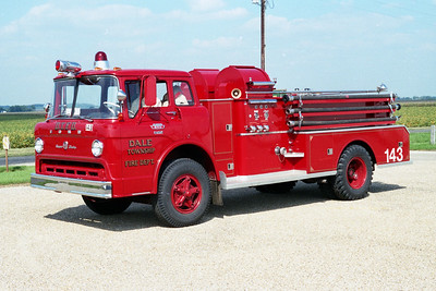 DALE TOWNSHIP FPD  ENGINE 143  1967  FORD C850 - JOHN BEAN   HP-750